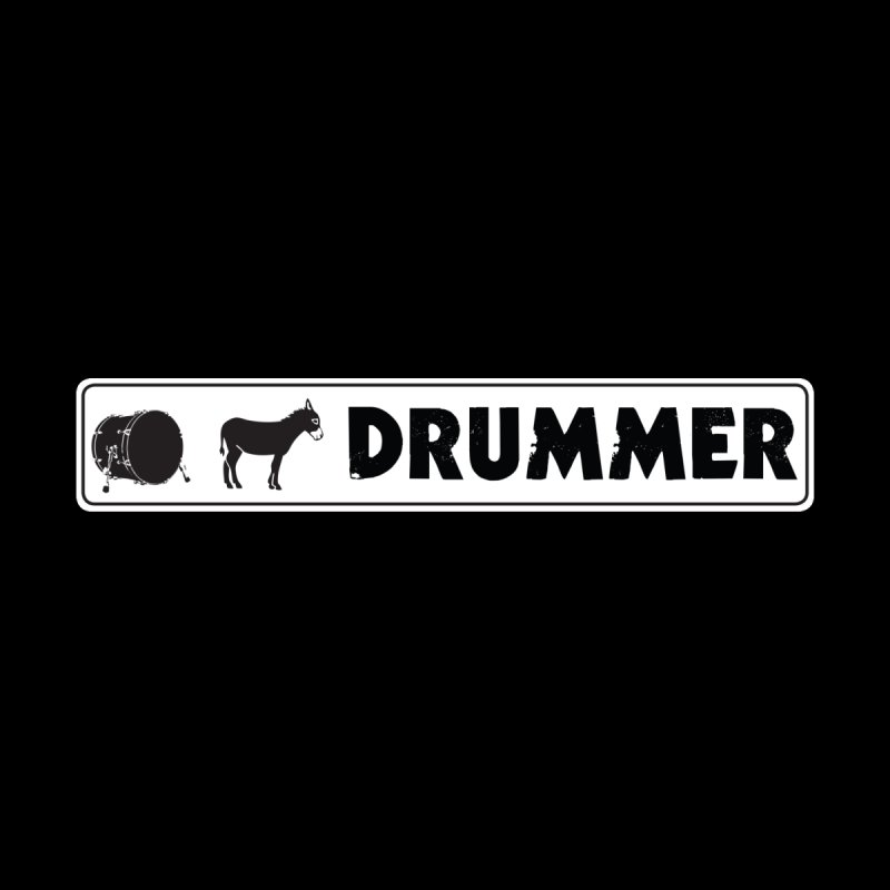Kick Ass Drummer - White Rectangle Logo by Drum Geek Online Shop