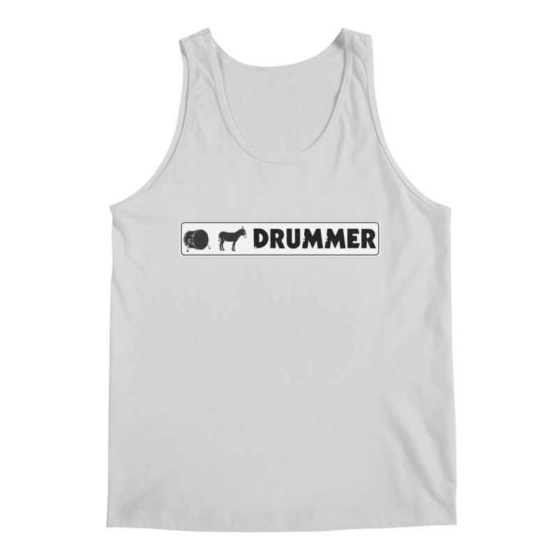 Kick Ass Drummer - White Rectangle Logo Men's Regular Tank by Drum Geek Online Shop