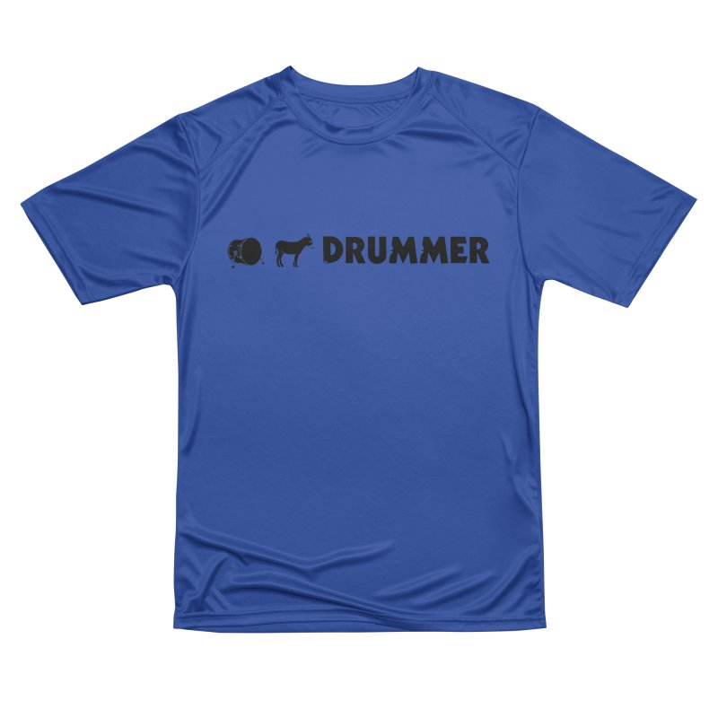 Kick Ass Drummer - Black Logo Women's Performance Unisex T-Shirt by Drum Geek Online Shop