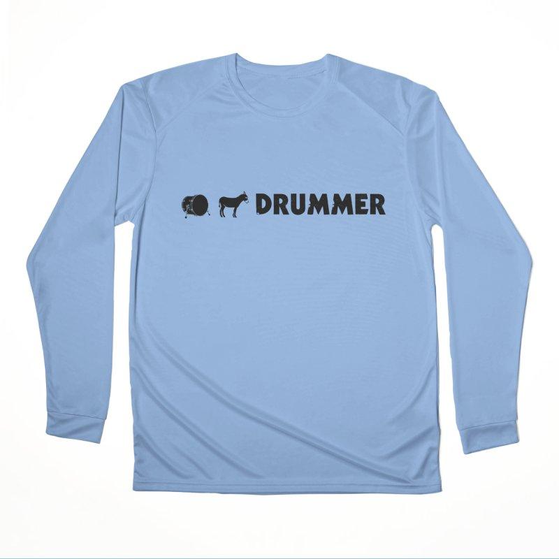 Kick Ass Drummer - Black Logo Women's Performance Unisex Longsleeve T-Shirt by Drum Geek Online Shop