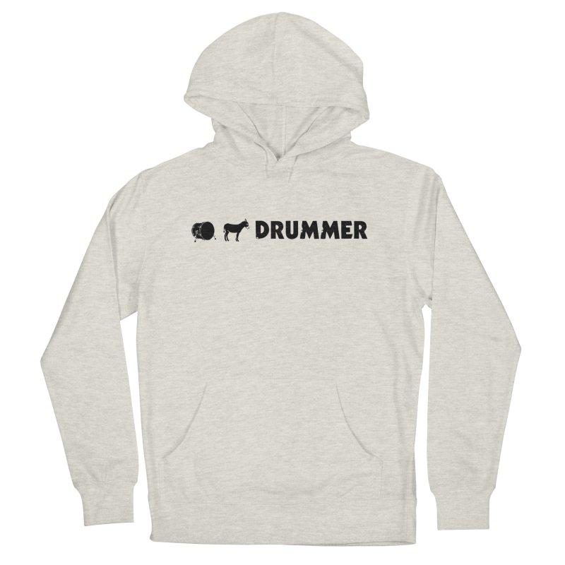 Kick Ass Drummer - Black Logo Women's French Terry Pullover Hoody by Drum Geek Online Shop