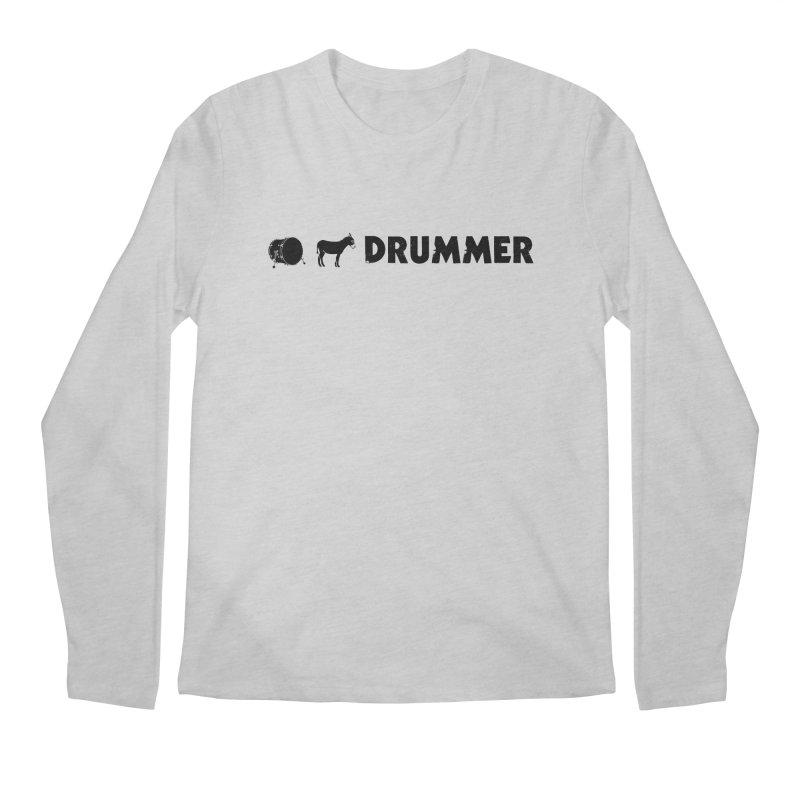 Kick Ass Drummer - Black Logo Men's Regular Longsleeve T-Shirt by Drum Geek Online Shop