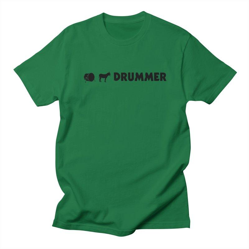 Kick Ass Drummer - Black Logo Men's Regular T-Shirt by Drum Geek Online Shop