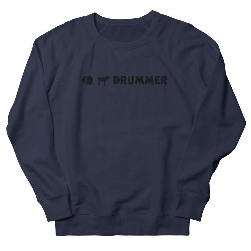 Kick Ass Drummer - Black Logo Men's French Terry Sweatshirt by Drum Geek Online Shop