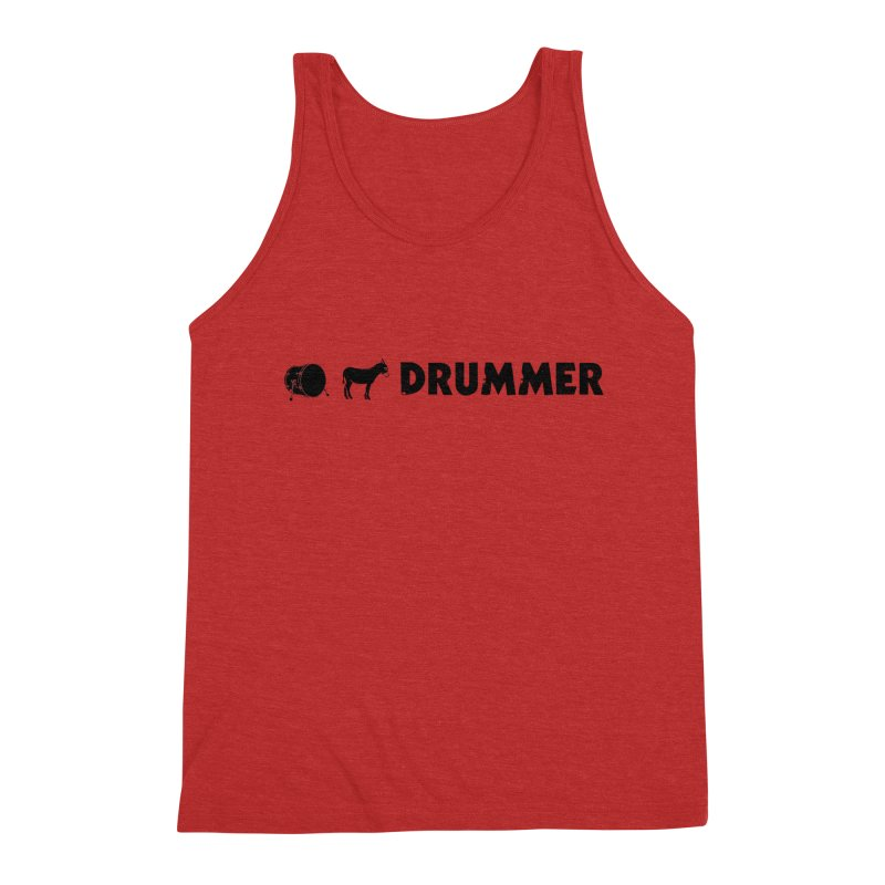 Kick Ass Drummer - Black Logo Men's Triblend Tank by Drum Geek Online Shop