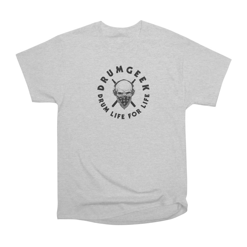 Drum Life For Life (Style 4) - Black Logo Men's Heavyweight T-Shirt by Drum Geek Online Shop
