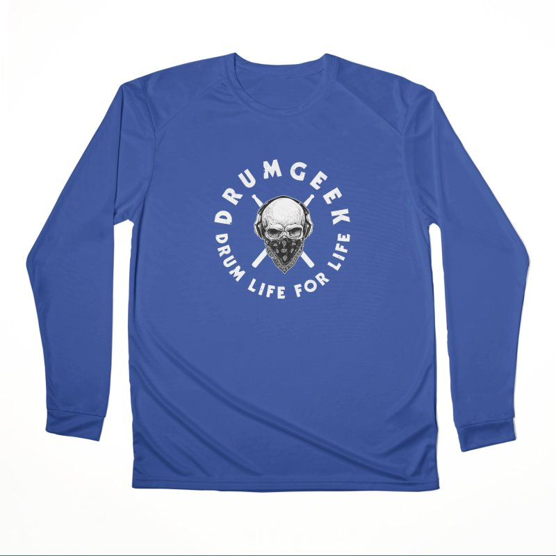 Drum Life For Life (Style 4) - White Logo Men's Performance Longsleeve T-Shirt by Drum Geek Online Shop