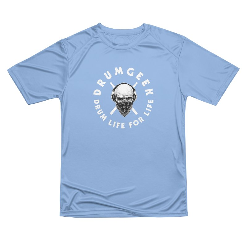 Drum Life For Life (Style 4) - White Logo Men's Performance T-Shirt by Drum Geek Online Shop
