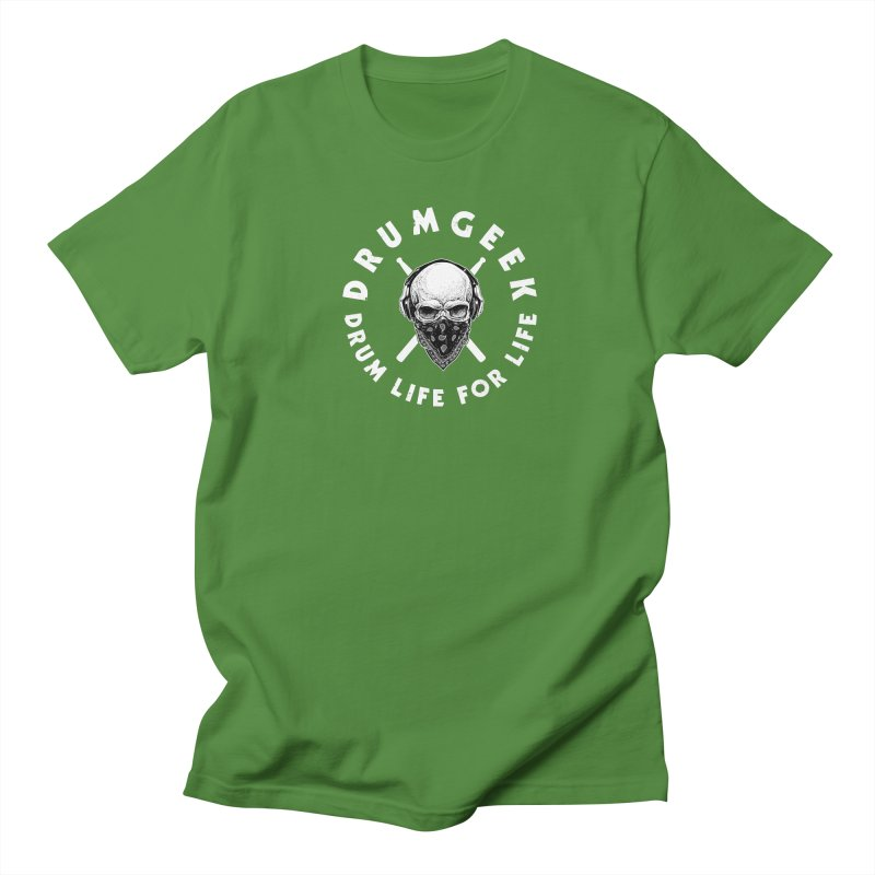 Drum Life For Life (Style 4) - White Logo Men's Regular T-Shirt by Drum Geek Online Shop