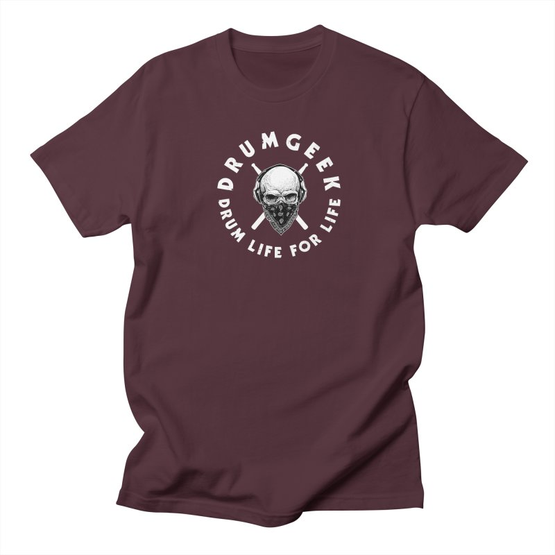 Drum Life For Life (Style 4) - White Logo Women's Regular Unisex T-Shirt by Drum Geek Online Shop