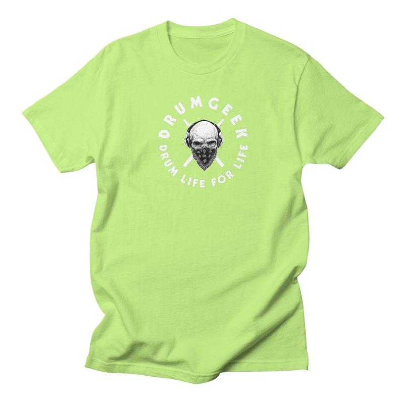 Drum Life For Life (Style 4) - White Logo Women's Regular Unisex T-Shirt by Drum Geek Online Shop