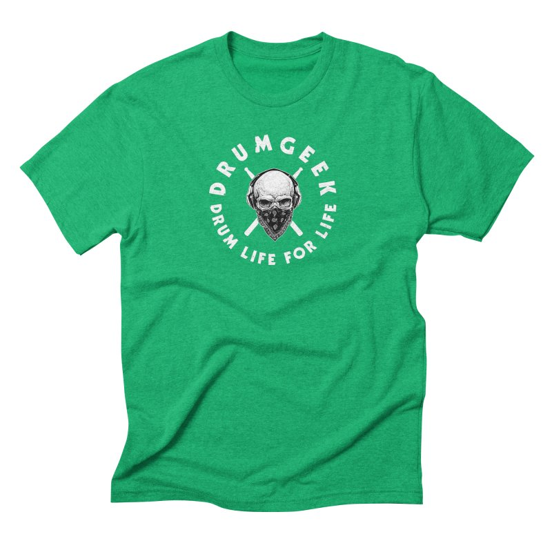 Drum Life For Life (Style 4) - White Logo Men's Triblend T-Shirt by Drum Geek Online Shop