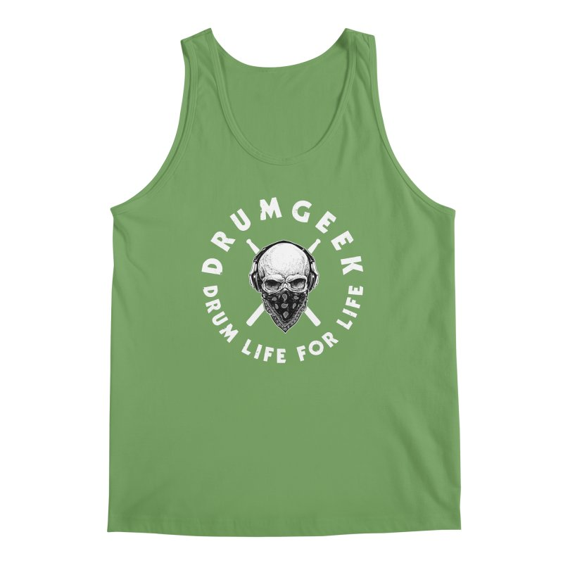 Drum Life For Life (Style 4) - White Logo Men's Tank by Drum Geek Online Shop