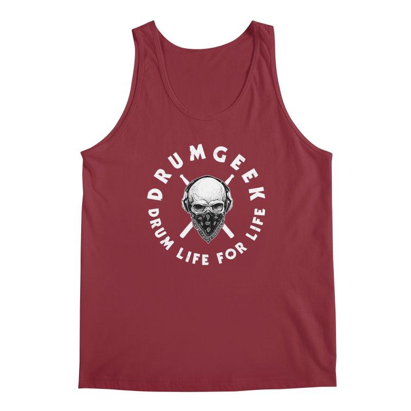 Drum Life For Life (Style 4) - White Logo Men's Regular Tank by Drum Geek Online Shop