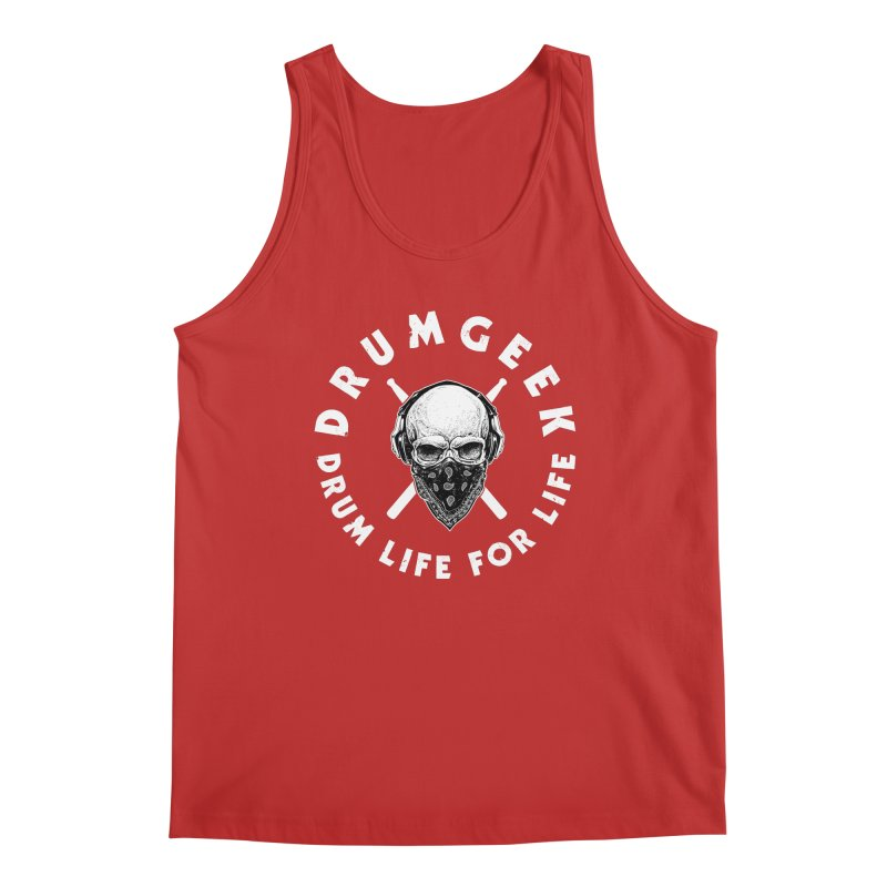 Drum Life For Life (Style 4) - White Logo Men's Regular Tank by Drum Geek Online Shop