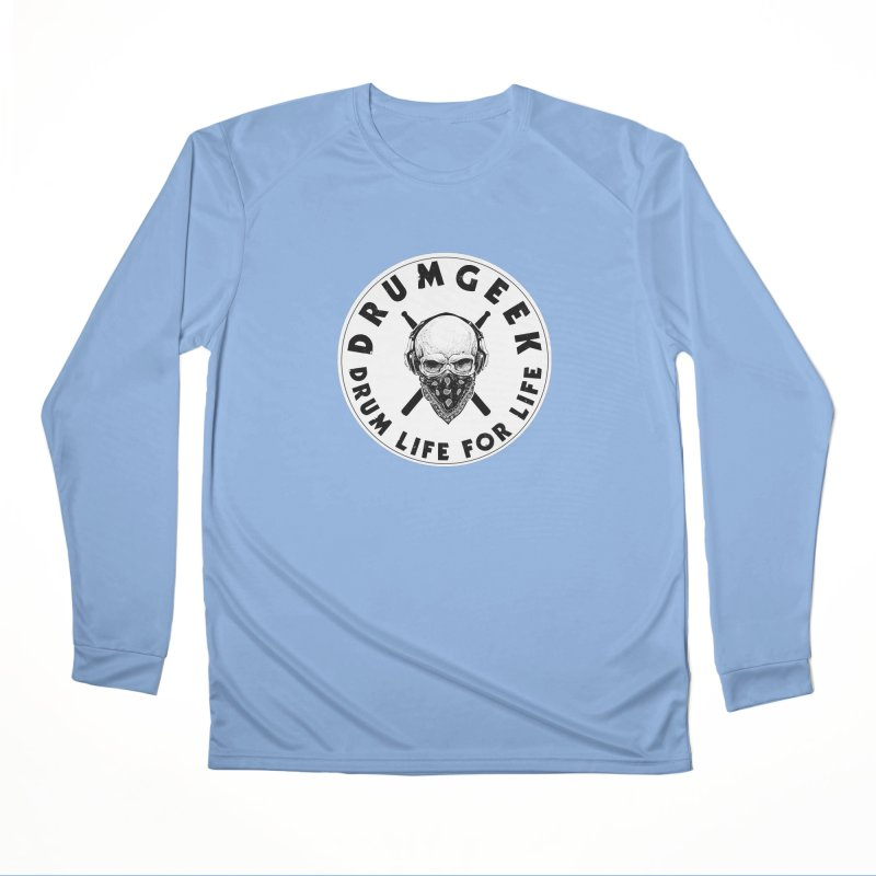 Drum Life For Life (Style 4) - Solid Logo Men's Performance Longsleeve T-Shirt by Drum Geek Online Shop