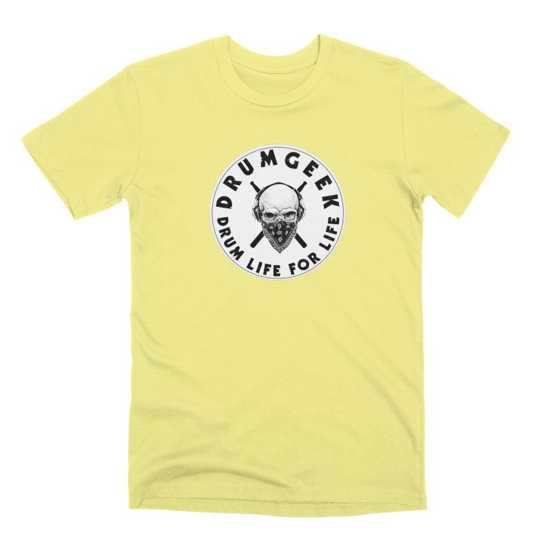 Drum Life For Life (Style 4) - Solid Logo Men's Premium T-Shirt by Drum Geek Online Shop