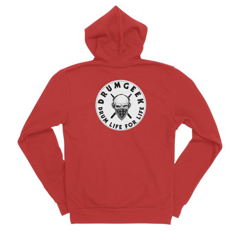 Drum Life For Life (Style 4) - Solid Logo Men's Sponge Fleece Zip-Up Hoody by Drum Geek Online Shop