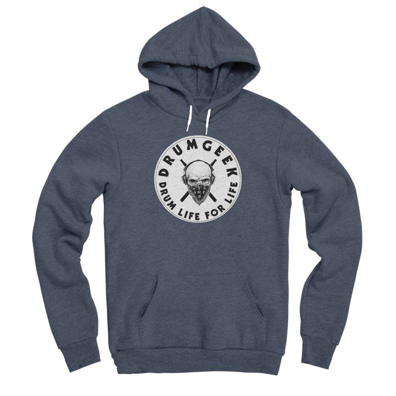 Drum Life For Life (Style 4) - Solid Logo Men's Sponge Fleece Pullover Hoody by Drum Geek Online Shop
