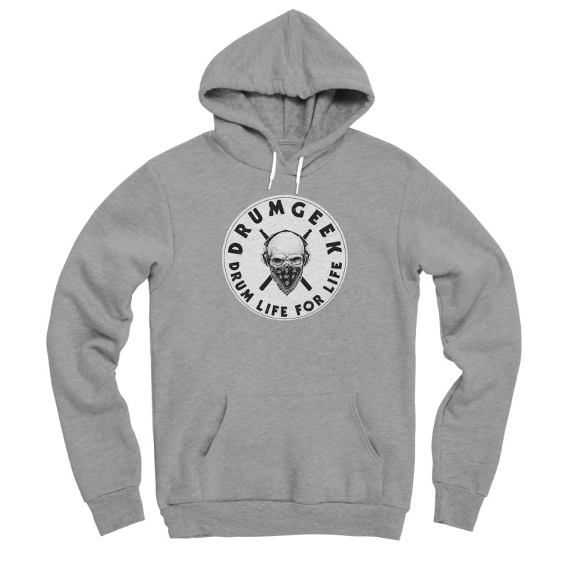 Drum Life For Life (Style 4) - Solid Logo Men's Sponge Fleece Pullover Hoody by Drum Geek Online Shop