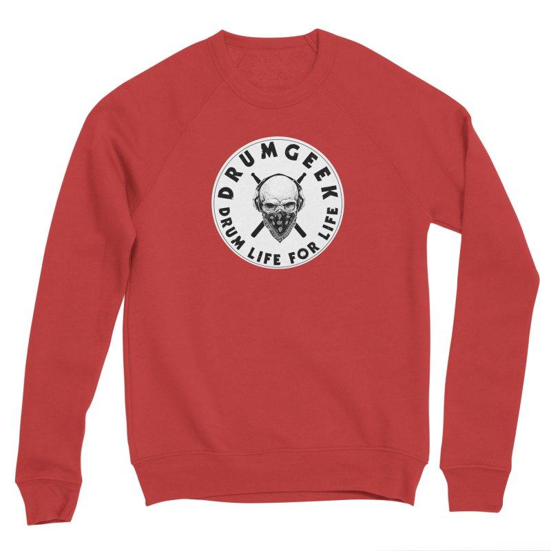 Drum Life For Life (Style 4) - Solid Logo Men's Sponge Fleece Sweatshirt by Drum Geek Online Shop