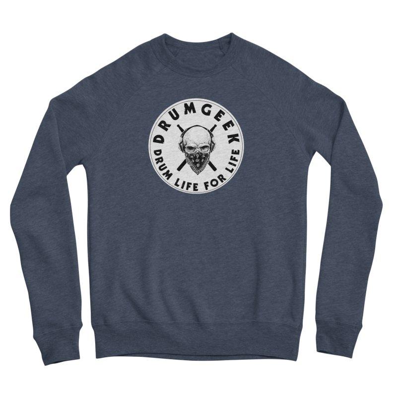 Drum Life For Life (Style 4) - Solid Logo Women's Sponge Fleece Sweatshirt by Drum Geek Online Shop