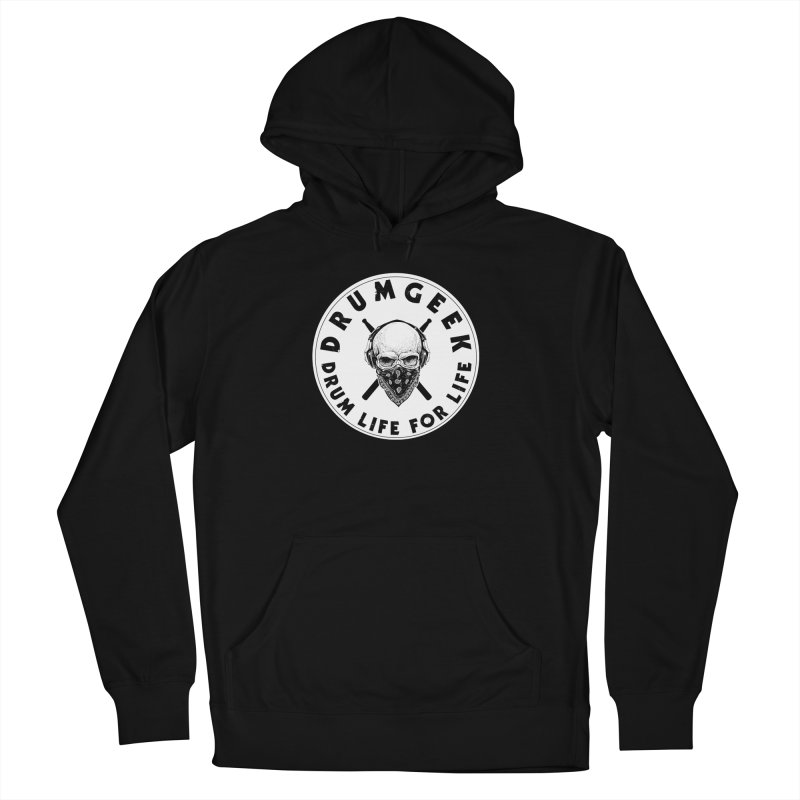 Drum Life For Life (Style 4) - Solid Logo Women's French Terry Pullover Hoody by Drum Geek Online Shop