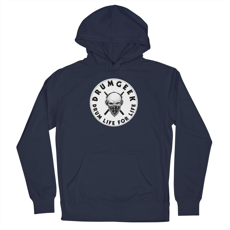 Drum Life For Life (Style 4) - Solid Logo Men's French Terry Pullover Hoody by Drum Geek Online Shop