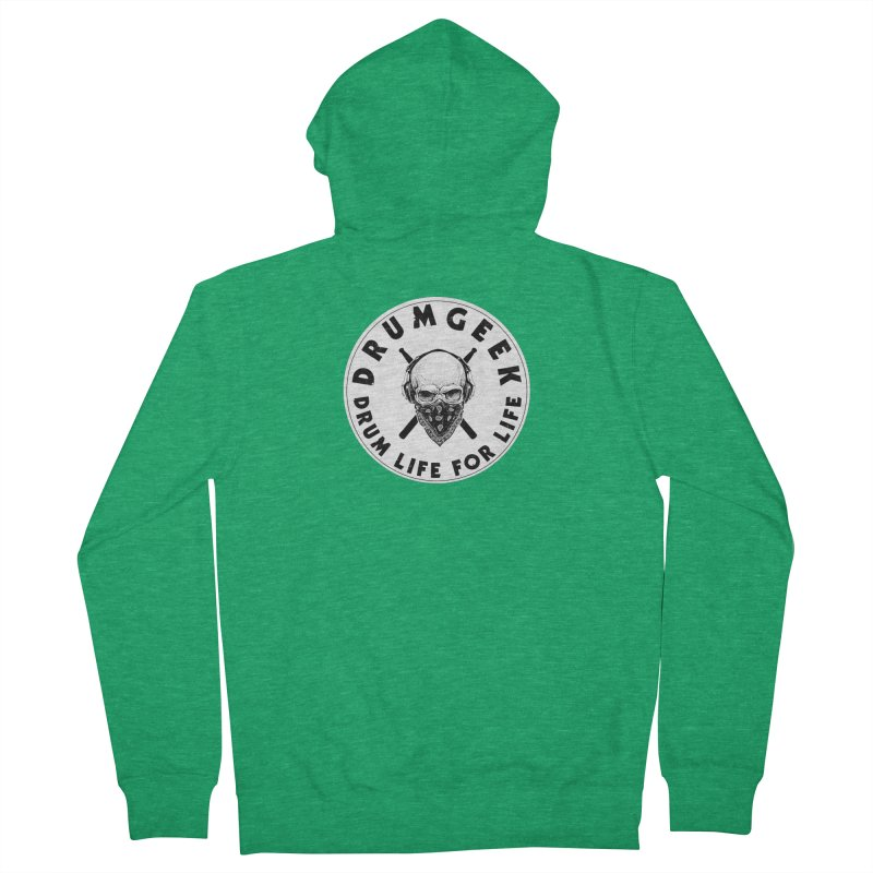 Drum Life For Life (Style 4) - Solid Logo Women's Zip-Up Hoody by Drum Geek Online Shop