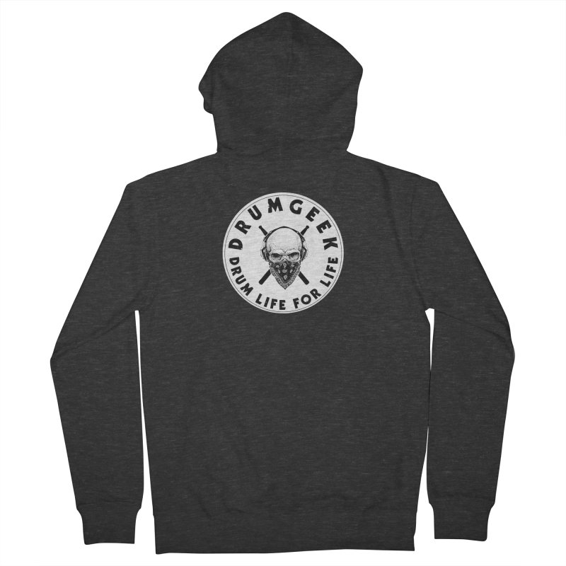 Drum Life For Life (Style 4) - Solid Logo Men's French Terry Zip-Up Hoody by Drum Geek Online Shop