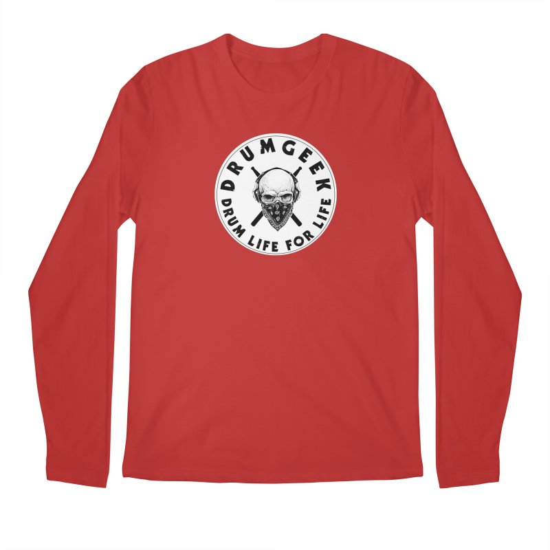 Drum Life For Life (Style 4) - Solid Logo Men's Regular Longsleeve T-Shirt by Drum Geek Online Shop