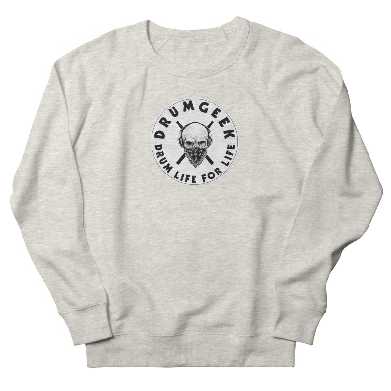 Drum Life For Life (Style 4) - Solid Logo Men's French Terry Sweatshirt by Drum Geek Online Shop
