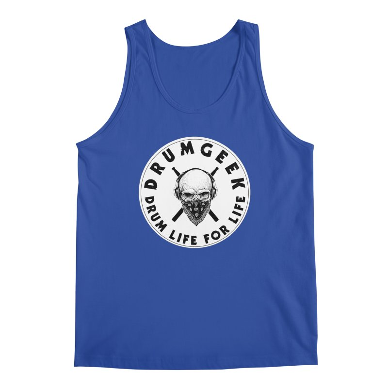 Drum Life For Life (Style 4) - Solid Logo Men's Regular Tank by Drum Geek Online Shop