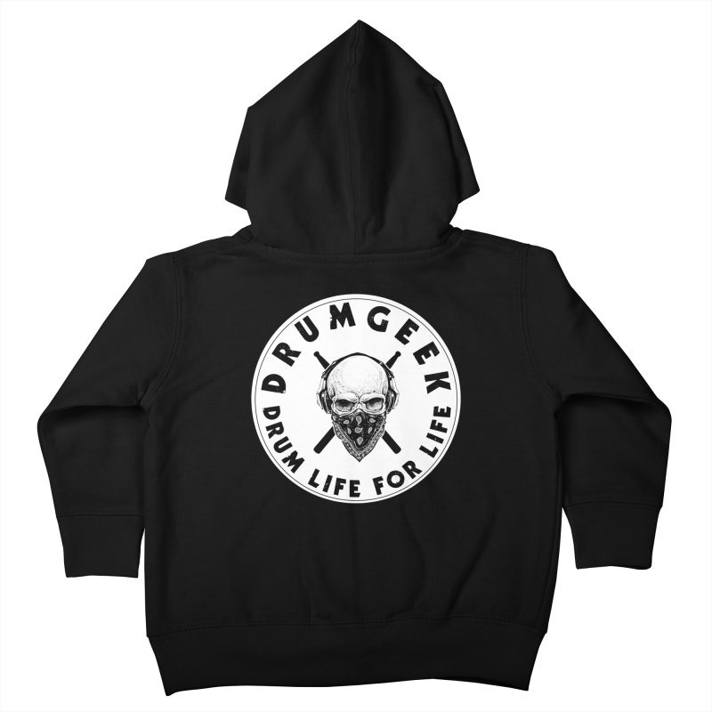 Drum Life For Life (Style 4) - Solid Logo Kids Toddler Zip-Up Hoody by Drum Geek Online Shop