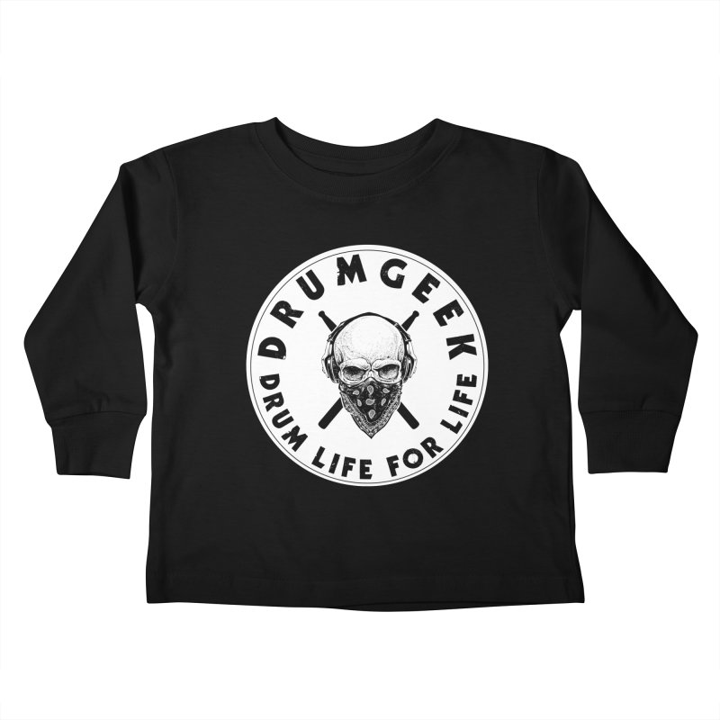 Drum Life For Life (Style 4) - Solid Logo Kids Toddler Longsleeve T-Shirt by Drum Geek Online Shop