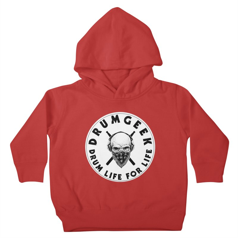Drum Life For Life (Style 4) - Solid Logo Kids Toddler Pullover Hoody by Drum Geek Online Shop