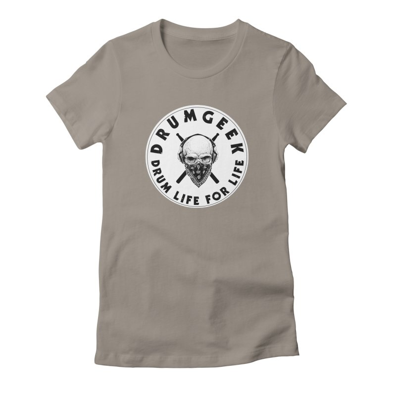 Drum Life For Life (Style 4) - Solid Logo Women's Fitted T-Shirt by Drum Geek Online Shop