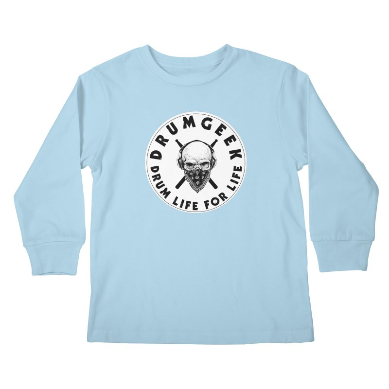 Drum Life For Life (Style 4) - Solid Logo Kids Longsleeve T-Shirt by Drum Geek Online Shop
