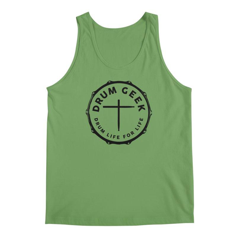 Christian Drum Geek - Black Logo Men's Tank by Drum Geek Online Shop