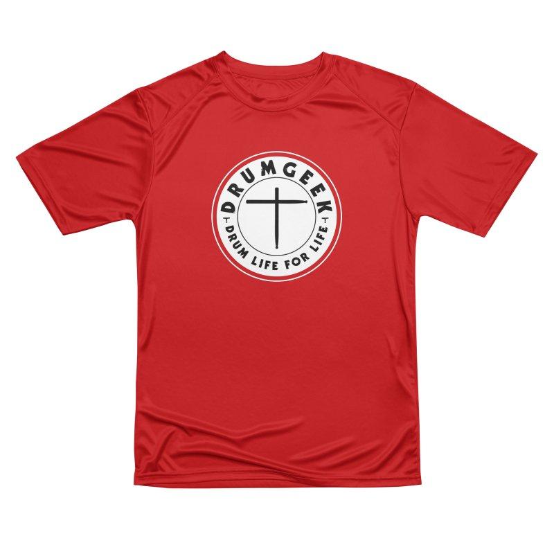 Christian Drum Geek (Style 2) - Solid Logo Women's Performance Unisex T-Shirt by Drum Geek Online Shop