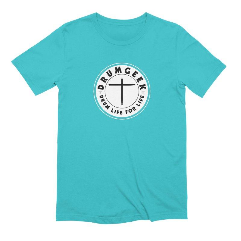 Christian Drum Geek (Style 2) - Solid Logo Men's Extra Soft T-Shirt by Drum Geek Online Shop