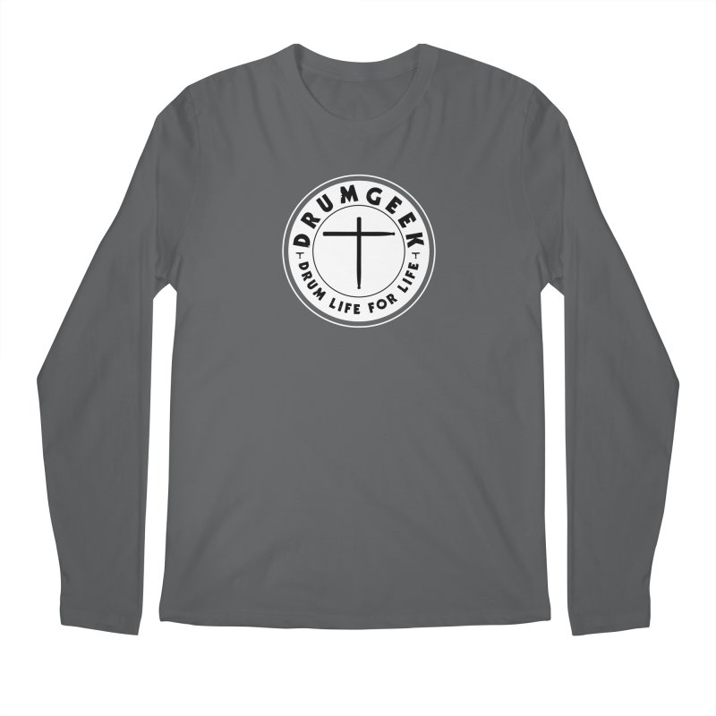 Christian Drum Geek (Style 2) - Solid Logo Men's Regular Longsleeve T-Shirt by Drum Geek Online Shop