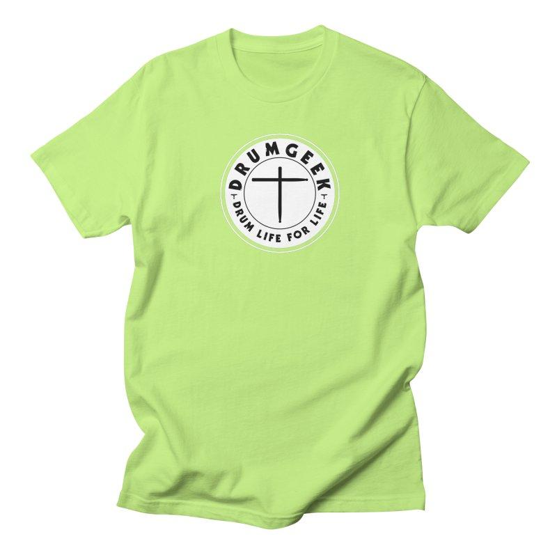 Christian Drum Geek (Style 2) - Solid Logo Men's Regular T-Shirt by Drum Geek Online Shop