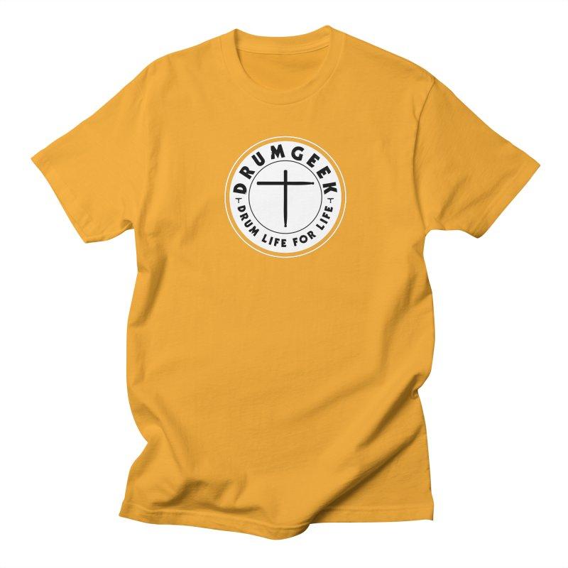 Christian Drum Geek (Style 2) - Solid Logo Women's Regular Unisex T-Shirt by Drum Geek Online Shop