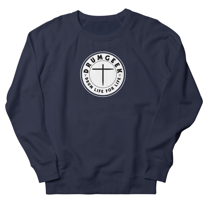 Christian Drum Geek (Style 2) - Solid Logo Women's French Terry Sweatshirt by Drum Geek Online Shop