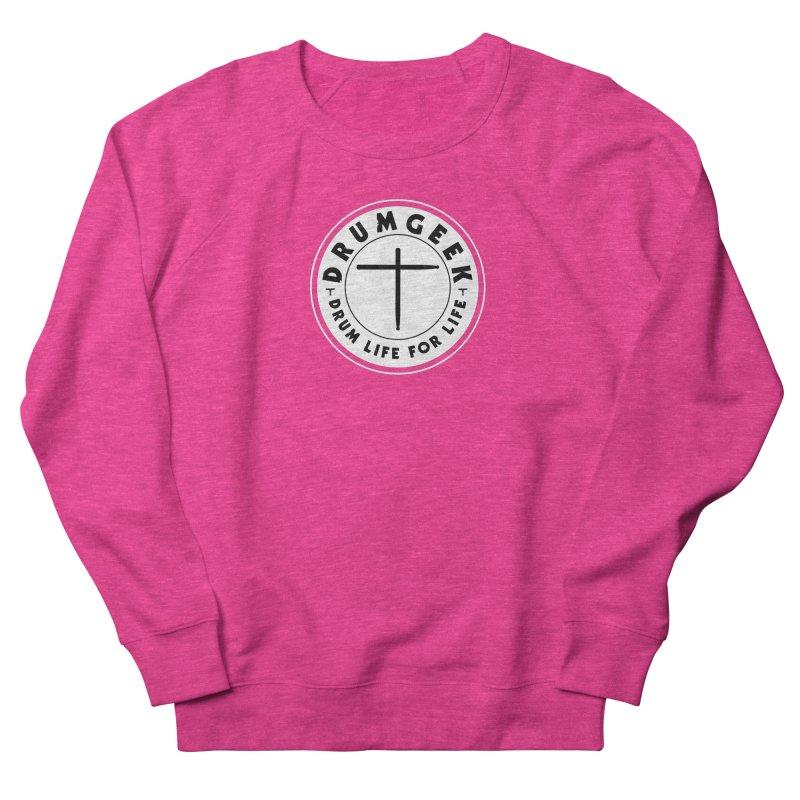 Christian Drum Geek (Style 2) - Solid Logo Men's French Terry Sweatshirt by Drum Geek Online Shop
