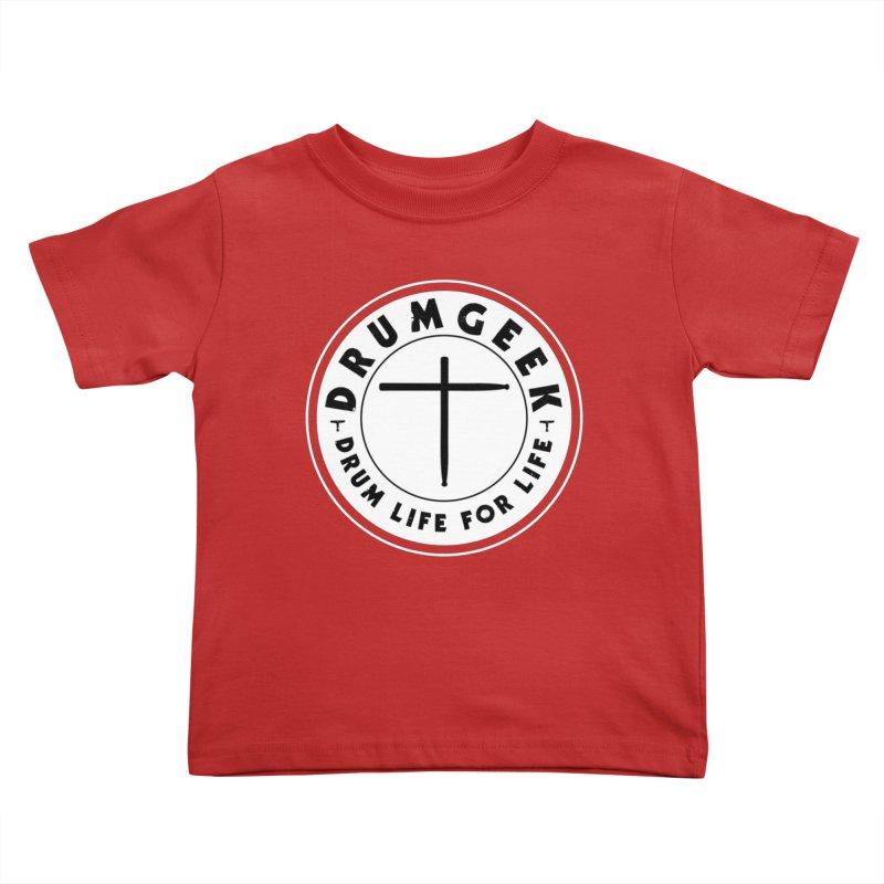 Christian Drum Geek (Style 2) - Solid Logo Kids Toddler T-Shirt by Drum Geek Online Shop