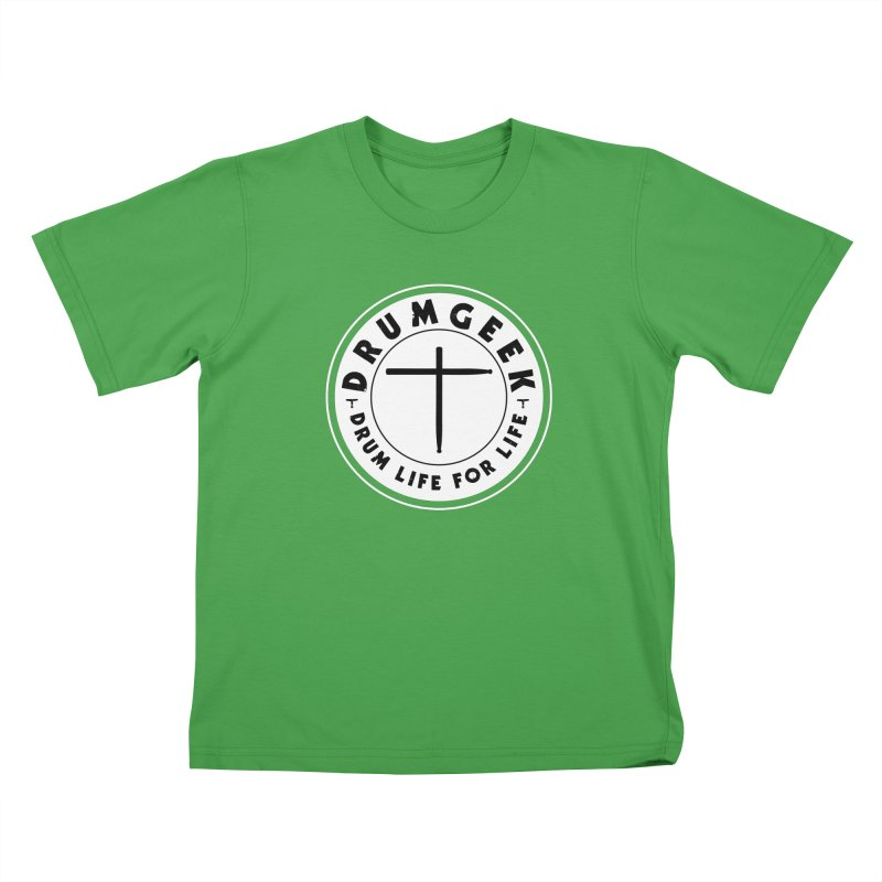 Christian Drum Geek (Style 2) - Solid Logo Kids T-Shirt by Drum Geek Online Shop