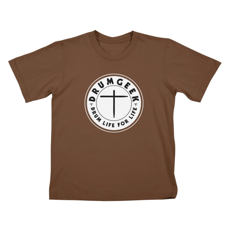 Christian Drum Geek (Style 2) - Solid Logo Kids T-Shirt by Drum Geek Online Shop