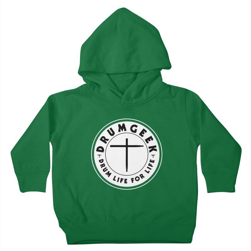 Christian Drum Geek (Style 2) - Solid Logo Kids Toddler Pullover Hoody by Drum Geek Online Shop
